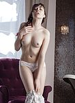 Ksenia Yankovskaya strips naked on her armchair